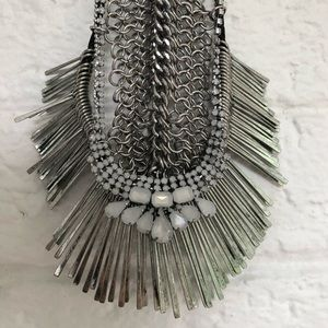 Free People Silver Collar Necklace
